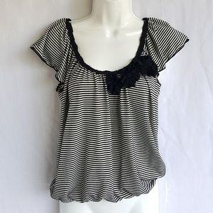 Max studio striped top, blouse, size S, great cond
